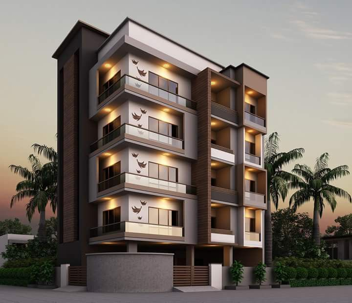 Modern Residential Exterior By Ar Sagar Morkhade: Pin By Dwarkadhish&Co. On Elevation In 2019