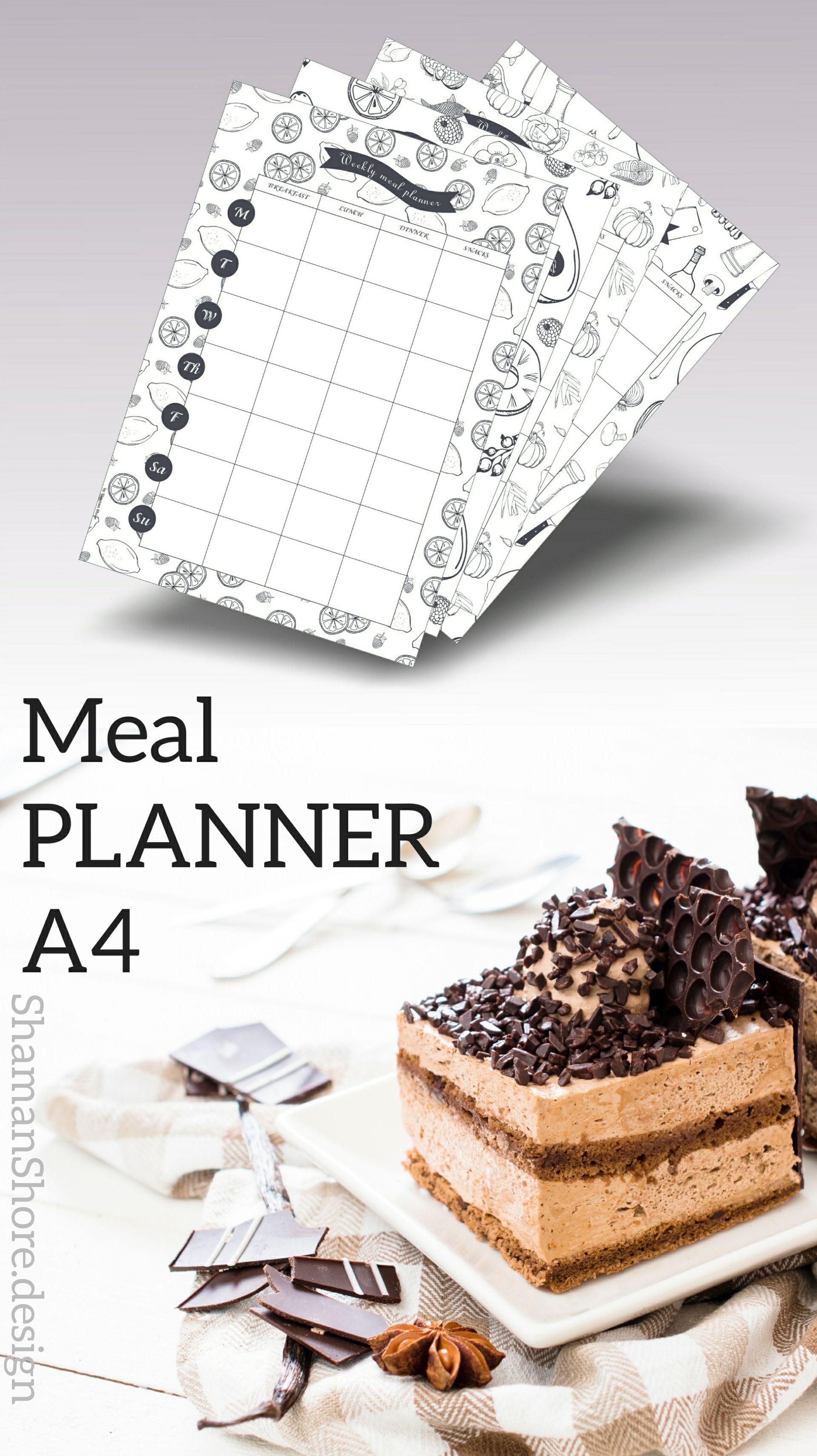 ShShPrintables Meal plan calendar template