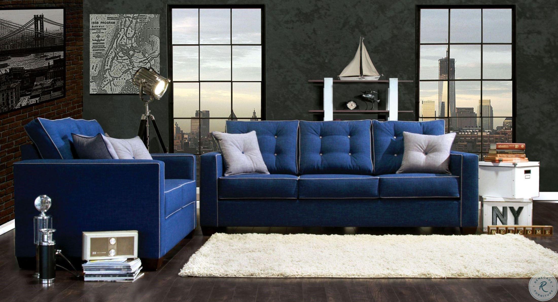 Ravel I Blue Fabric Living Room Set Foa Sm8802 Sf Room Blue Sofas Living Room White Living Room Set Blue Furniture Living Room