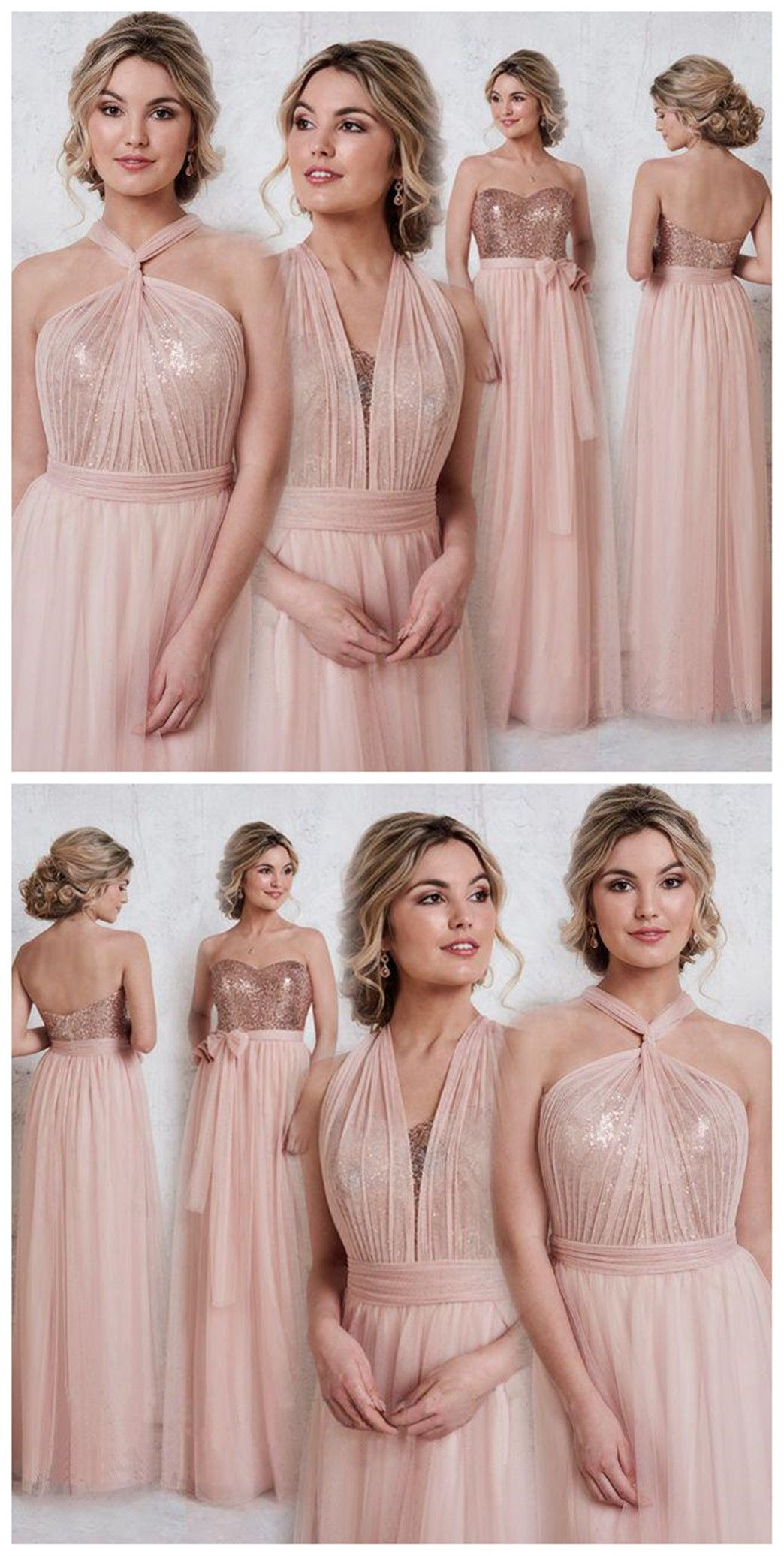 Rose gold sparkly mismatched sequin long bridesmaid dresses cheap rose gold sparkly mismatched sequin long bridesmaid dresses cheap unique custom long bridesmaid dresses affordable bridesmaid gowns bd104 ombrellifo Image collections