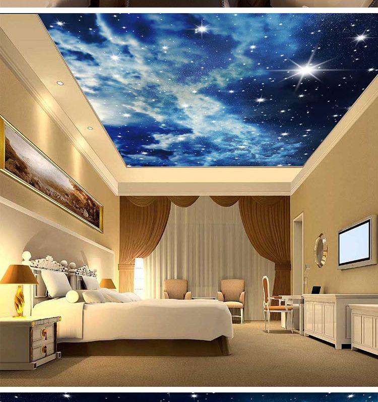 3d ceiling sky design - Google Search | Ceiling design ...