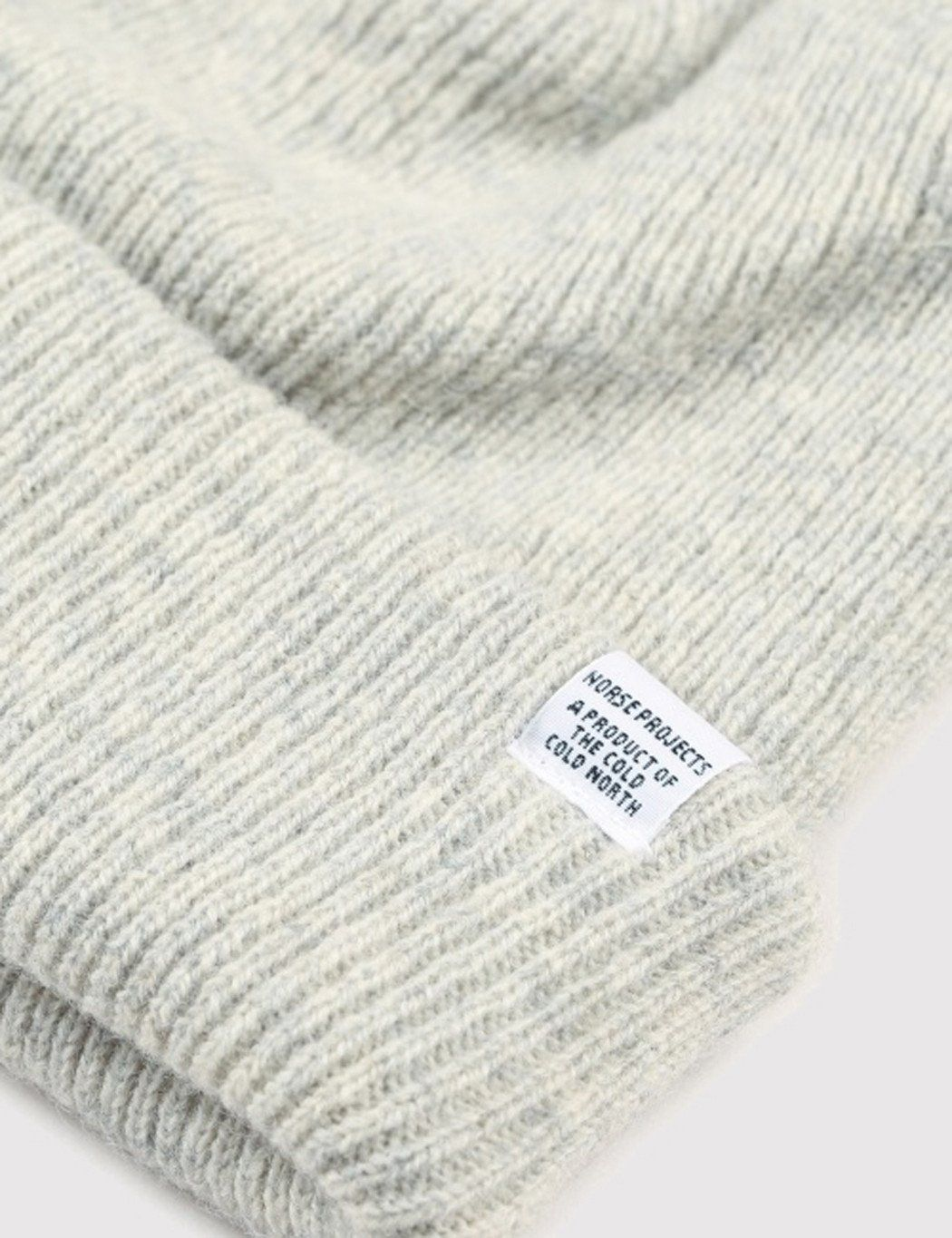 2be17138c06 Norse Projects Norse Beanie Hat in Light Grey Melange