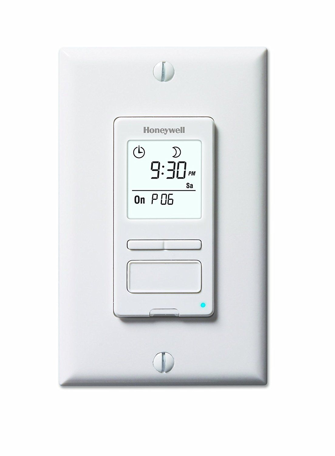 Amazon Com Honeywell Rpls540a Econoswitch Programmable Timer Switch White Requires 40 W Minimum Home Improveme With Images Light Switch Timer Digital Timer Solar Time