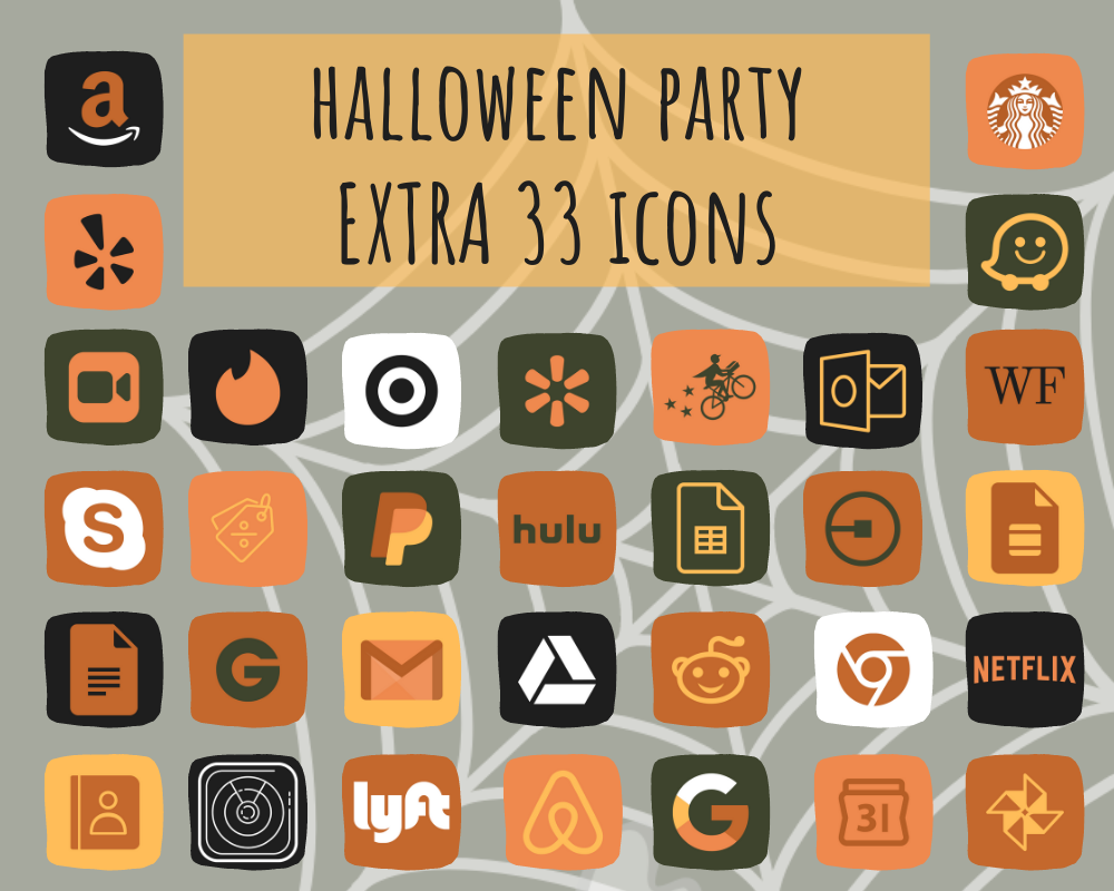 68 BIG PACK Halloween iOS 14 app icons, Scary App Icons