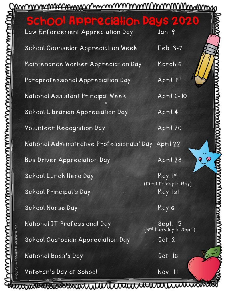 School Appreciation Days 2020 in 2020 (With images