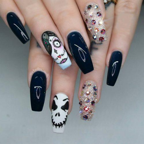 66 Best Creepy Halloween Nail Designs