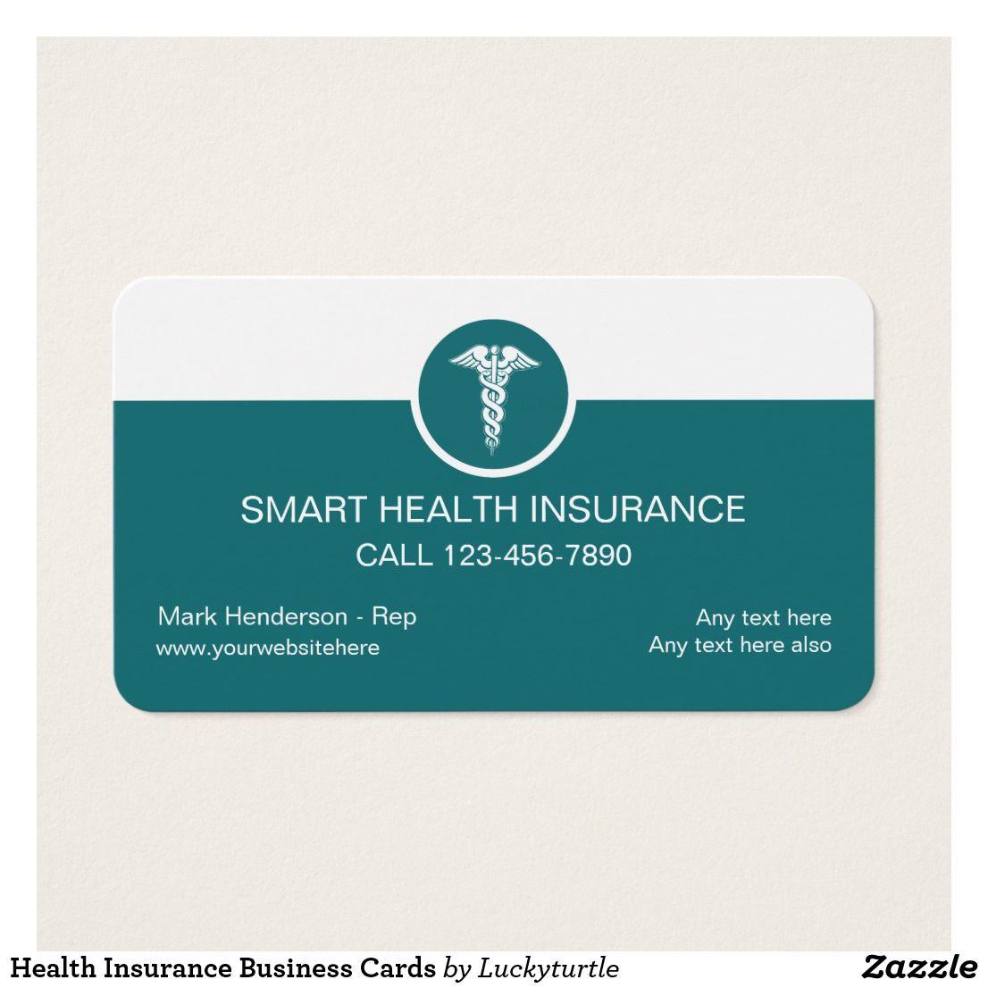 Health Insurance Business Cards Zazzle Ca Medical Et Gateau