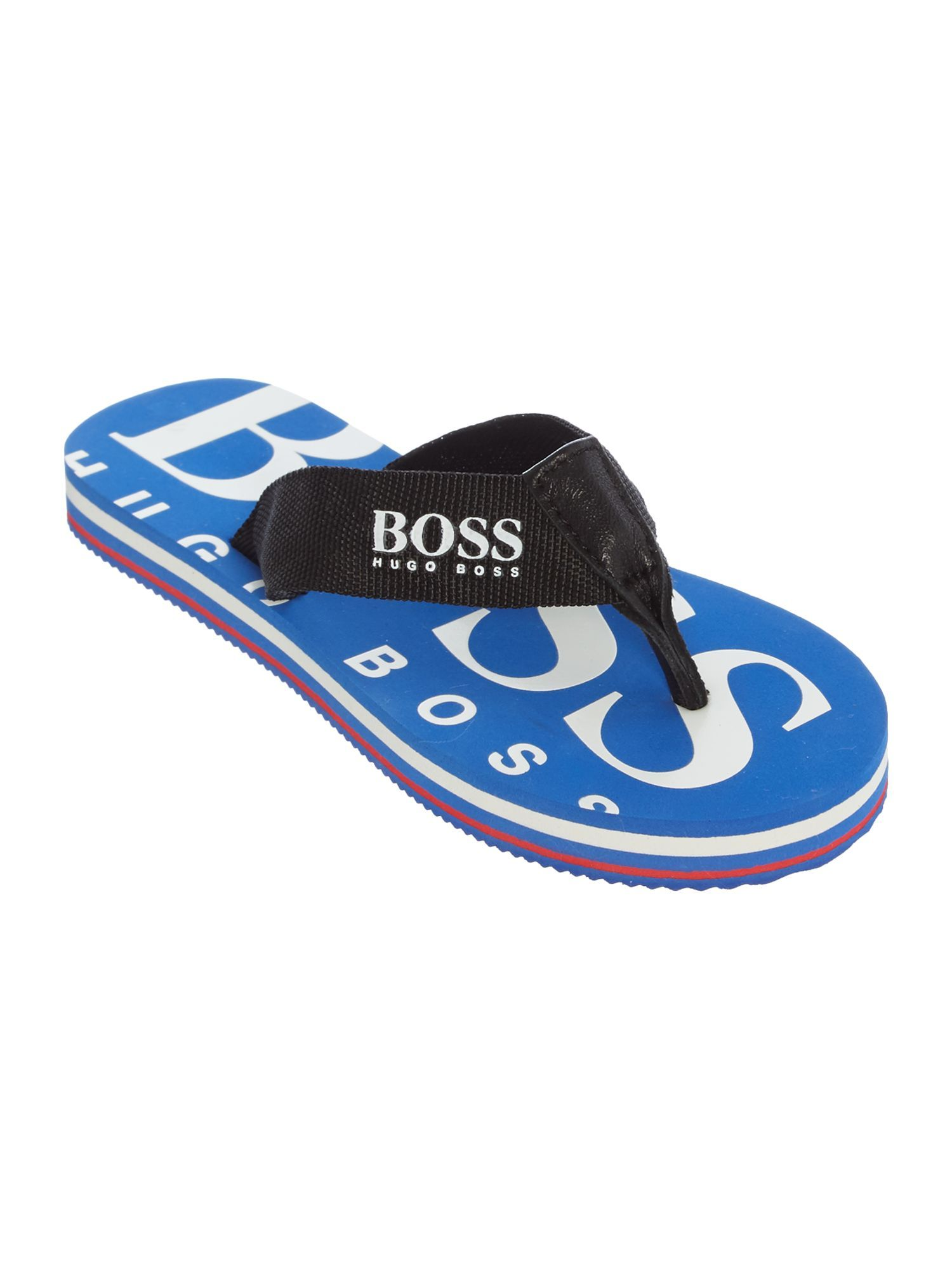 Boss: A lovely pair of flip flops with cow leather sold in a pouch bag., Sandals & Flip FlopsMachine wash coldBoy Get the Hugo Boss Boys Flip Flops,