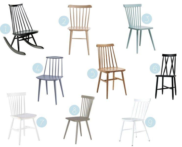 Où trouver une jolie chaise à barreaux scandinave en bois