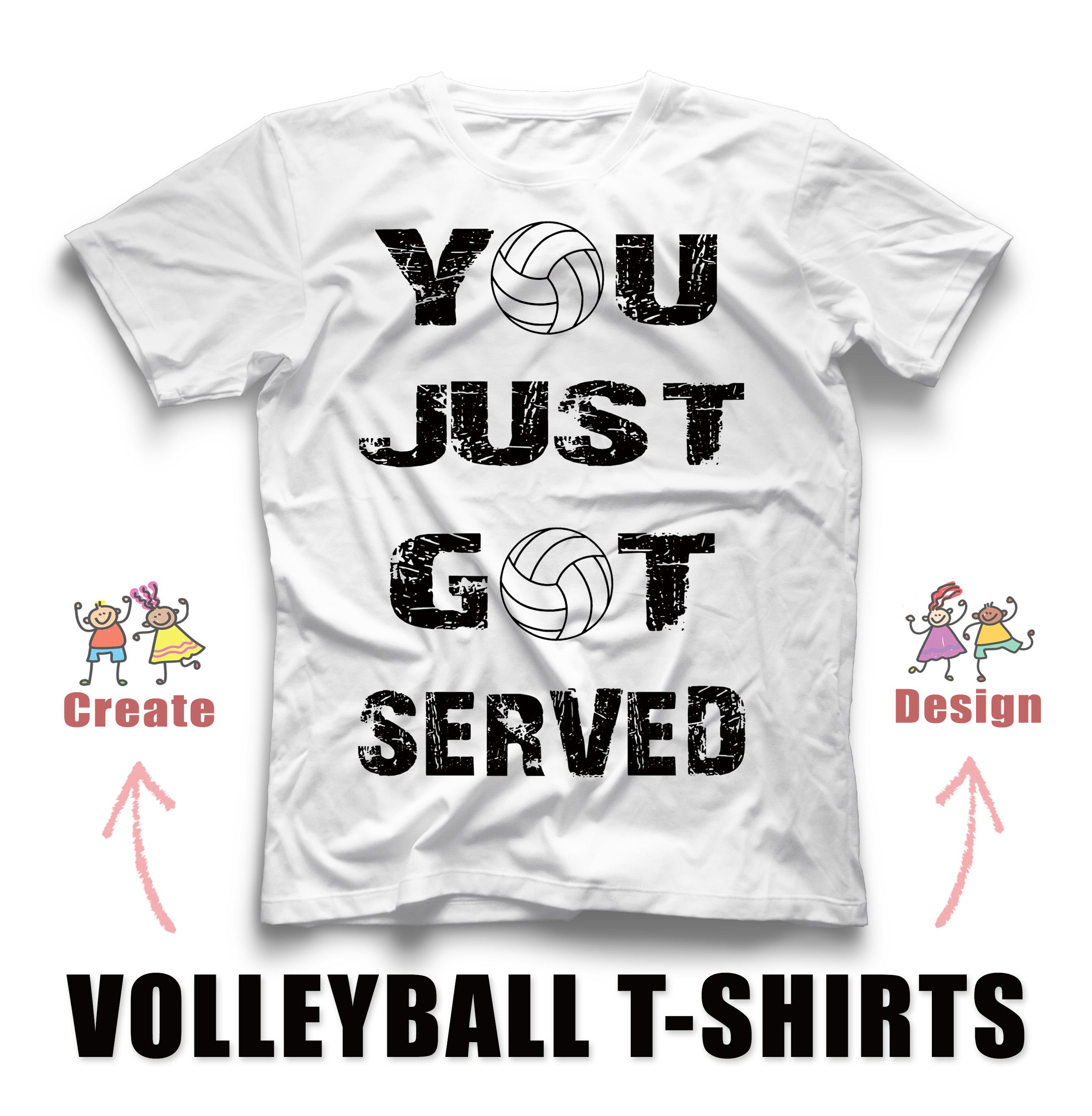 Volleyball Custom T Shirt Design Idea For You Volleyball Team