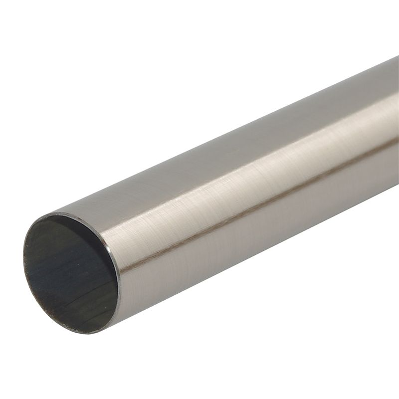 Pillar Products 32mm X 3m Brushed Chrome Curtain Rod Curtain