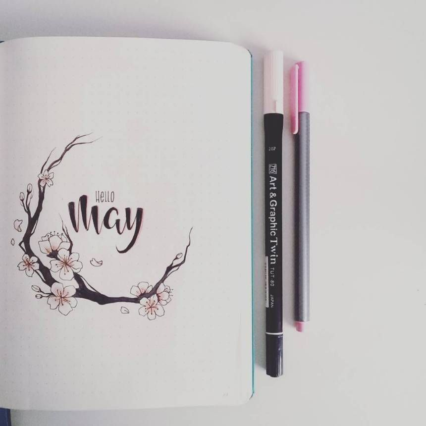 bullet journal may cover pages 009 #May