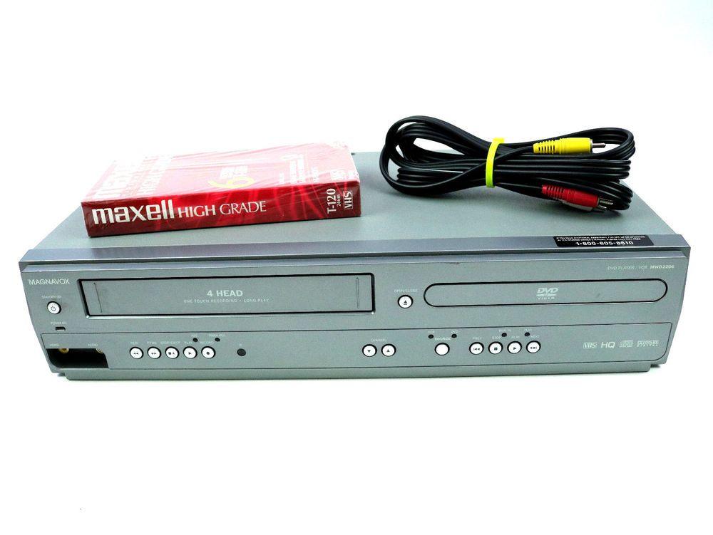 Magnavox MWD2206 DVD Player VCR Combo 4 Head VHS Recorder
