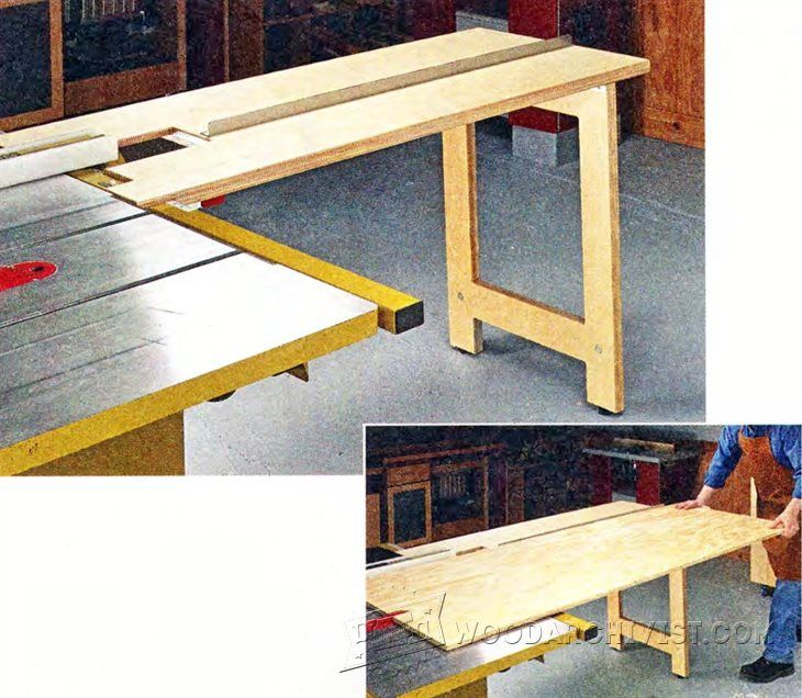 1614-Table Saw Infeed Table Plan