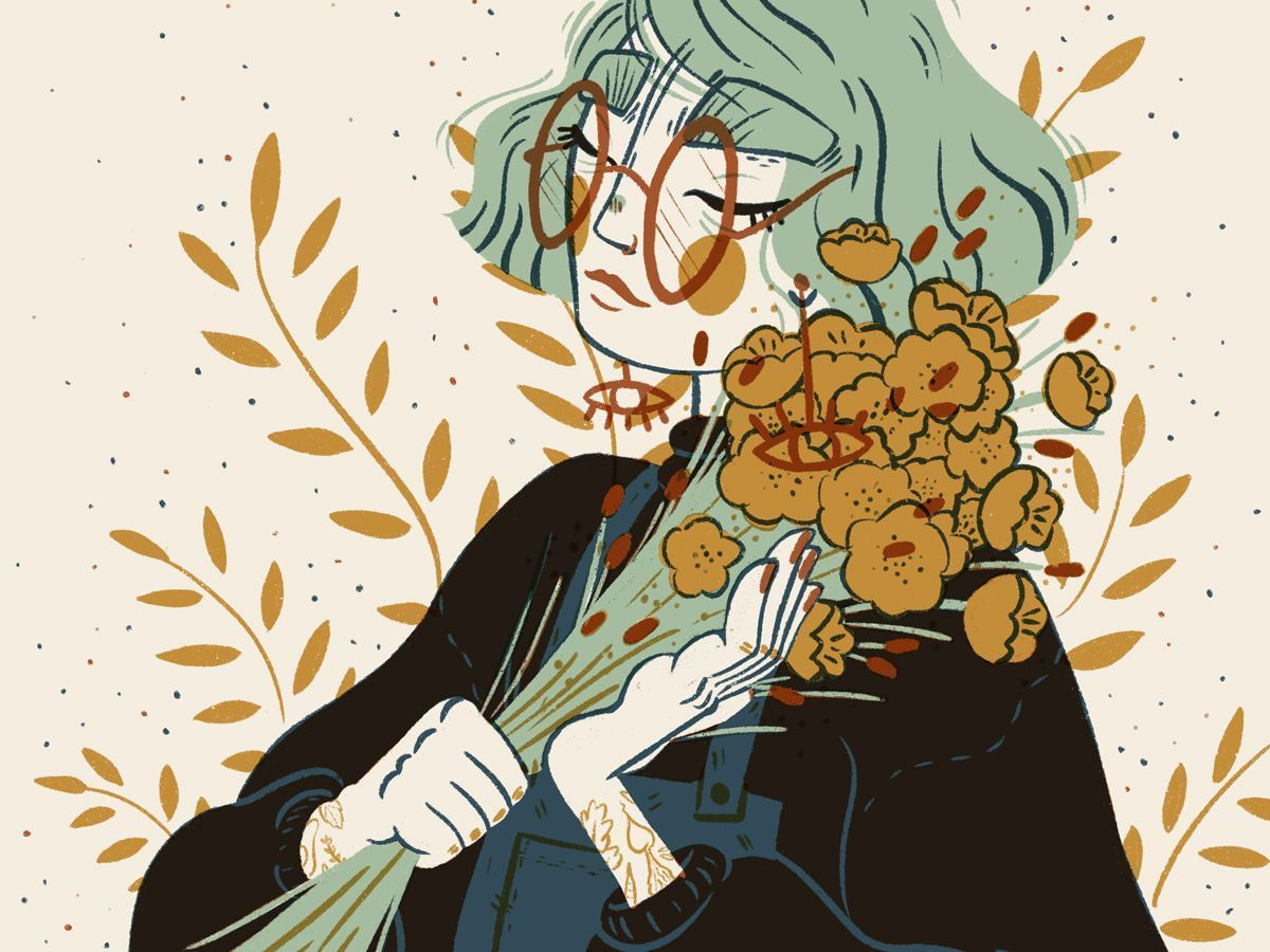 Mustard Florals #illustration by Tamara Alexander