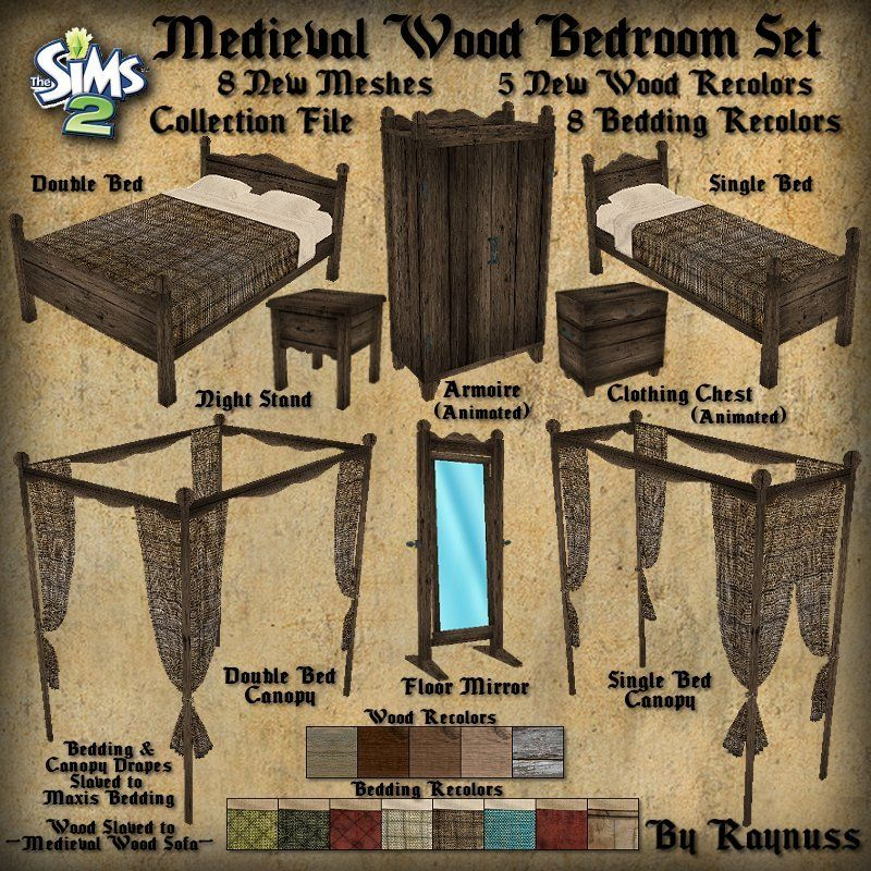 Imagine That The Medieval Wood Bedroom Set Pinteres