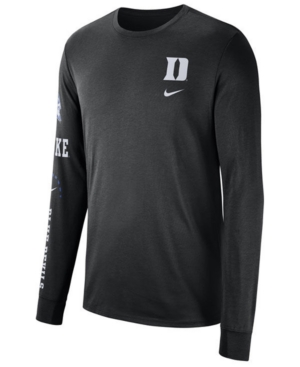 fd97121d Nike Men's Duke Blue Devils Long Sleeve Basketball T-Shirt - Black L ...