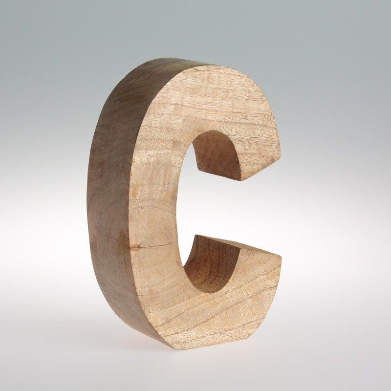 Chunky mango wooden letters from the alaphabet store in