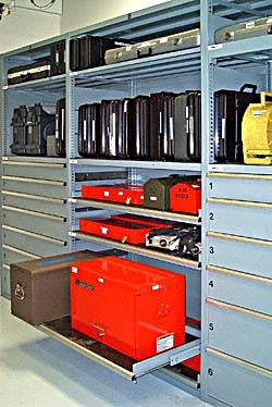 Large Case Storage. Listau0027s Storage Wall® System Accommodates Storage On  Either Fixed Shelves Or Roll Out Trays For Added Versatility