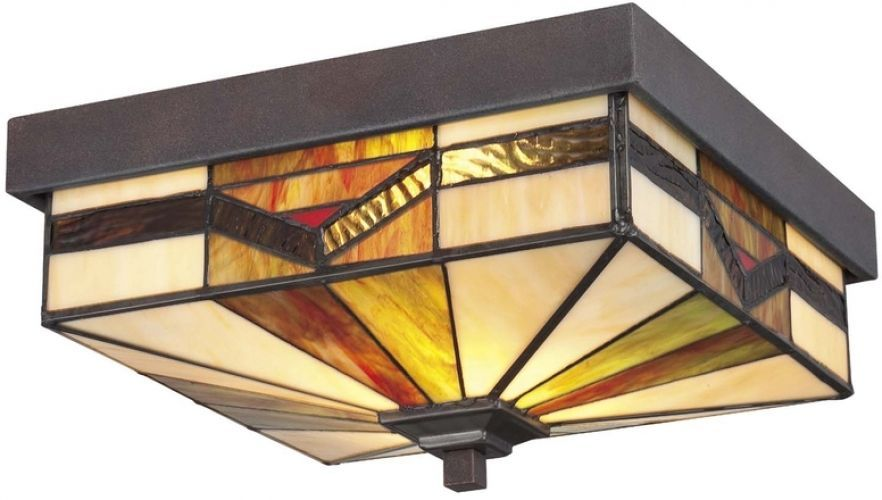 Vistora 11 In Bronze Tiffany Style Outdoor Flush Mount Porch Lighting Fixture Allenroth