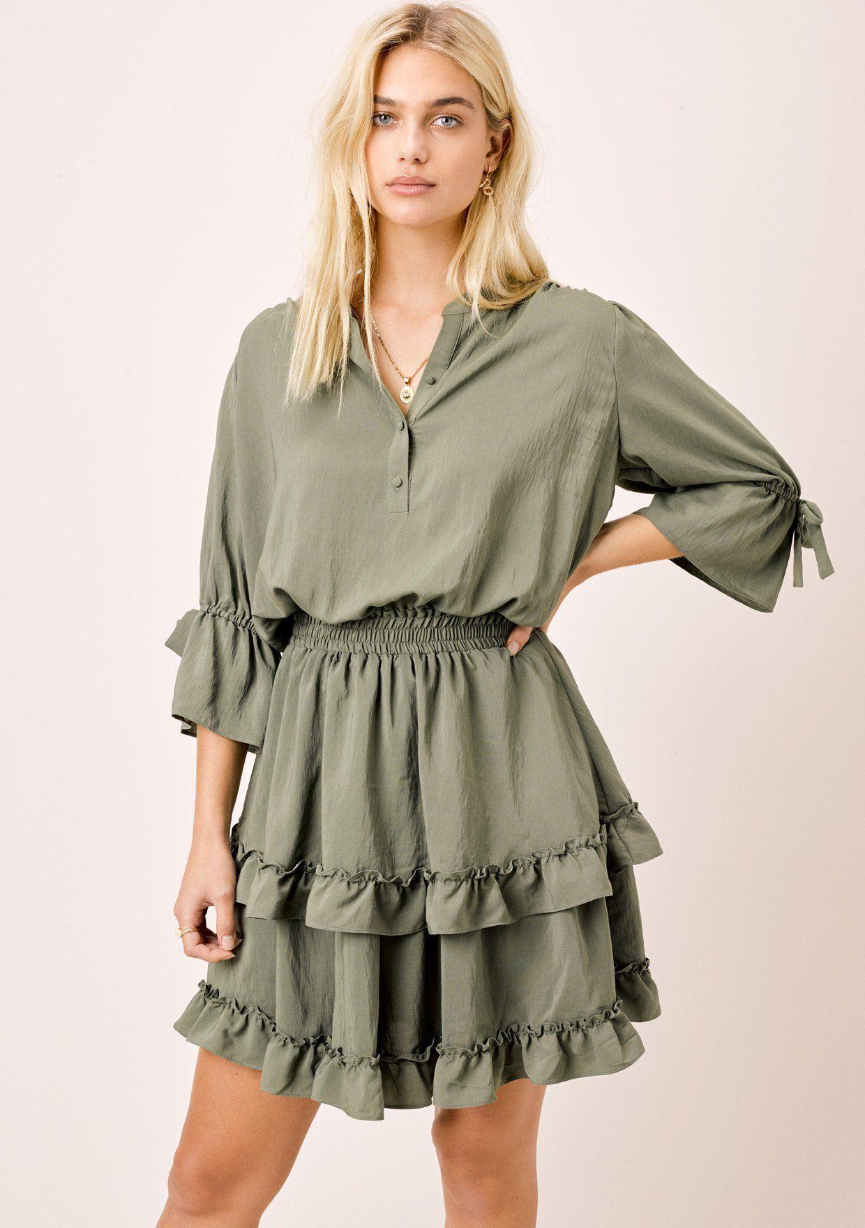 10++ Tiered mini dress info