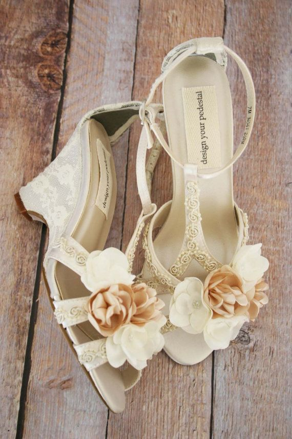 Wedding Shoes Ivory Wedge Wedding Shoes By Designyourpedestal In 2021 Wedding Shoes Lace Wedge Wedding Shoes Ivory Wedding Shoes Wedges