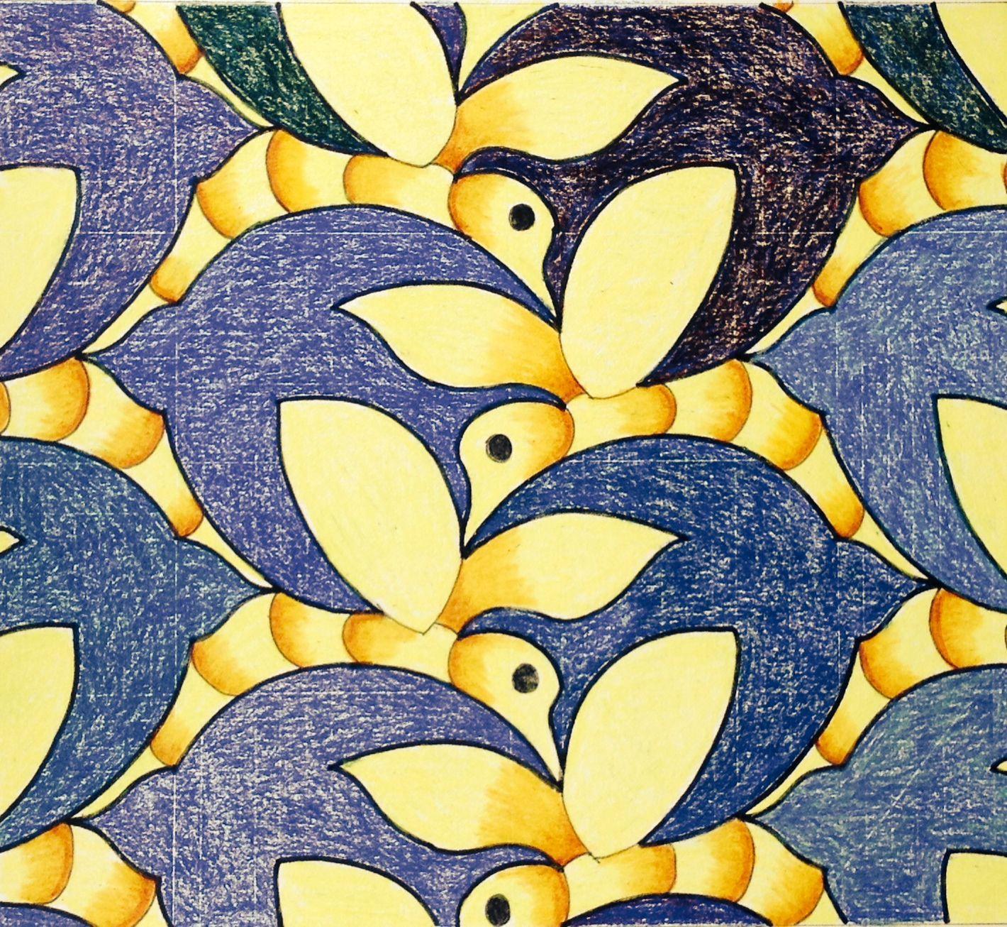 #tessellation #tiling #geometry #symmetry #Escher #Mc_Escher Symmetry nr 26