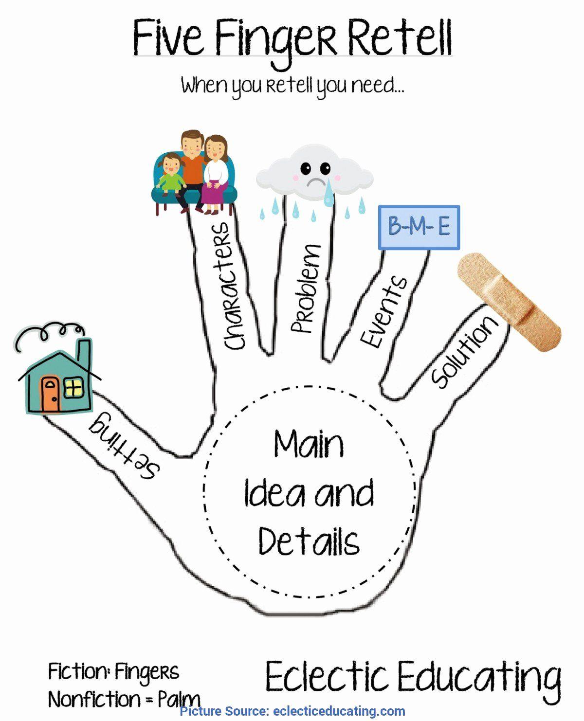 5 Finger Retell Worksheet Best Of Unusual Five Finger