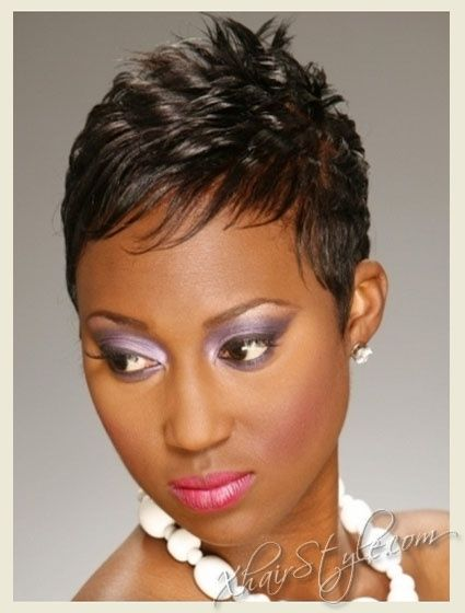 Very Short Pixie Haircuts For 2011 Black Women Hairstyles Short Hair Styles For Round Faces Short Hair Styles Short Haircut Styles