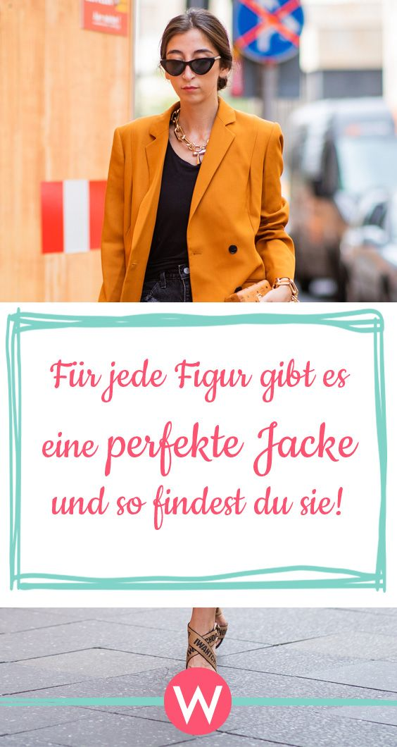 die perfekte jacke f r jede figur jacken styling tipps. Black Bedroom Furniture Sets. Home Design Ideas
