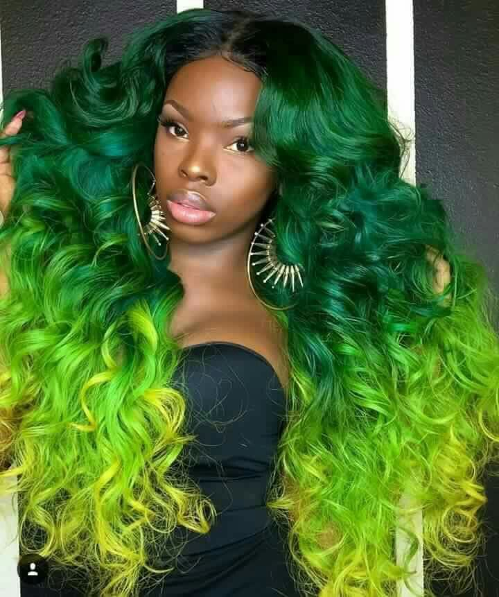 I want to be seen in green au naturale pinterest black hair i swear there is nothing we cantwont rock try this quadruple coloured hair style like this sister here do yourself a favour and have a stylist colour solutioingenieria Images