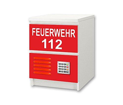 Feuerwehr Möbelsticker / Aufkleber NS48 passend für