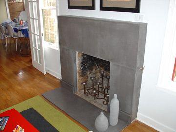 Polished concrete fireplace. A little mod, but I kinda love it ...