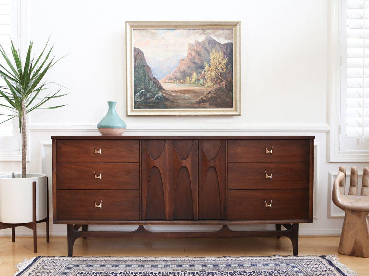 Mid century modern broyhill brasilia 9 drawer dresser no 015
