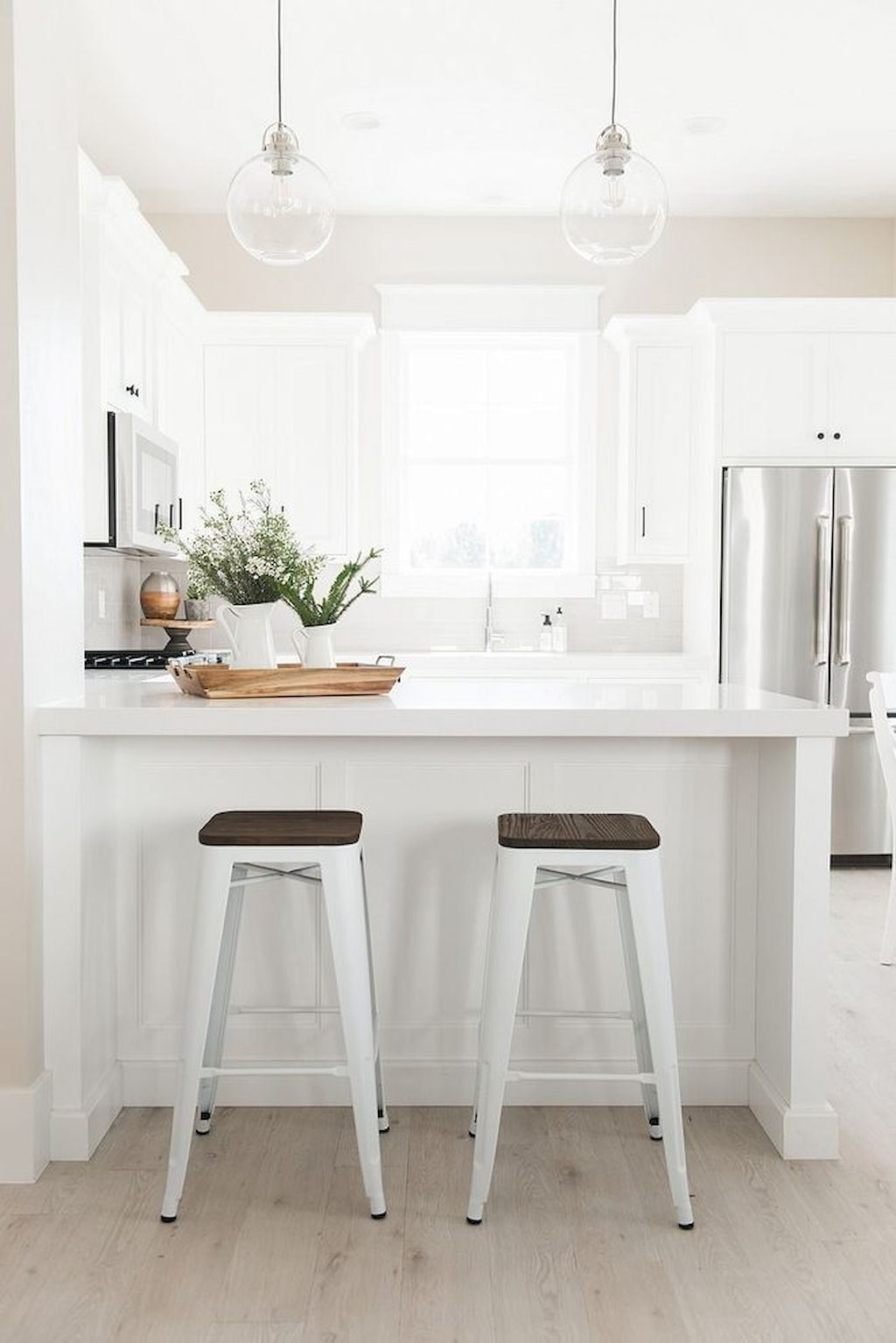 Amazing Small Kitchen Concepts For Your Snug Cooking Home To Z Peninsula Kitchen Design White Kitchen Design Kitchen Design Small White kitchen with peninsula