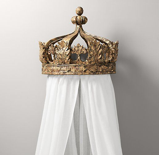Bed Crown Canopy Crib Crown Nursery Design Wall Decor: Gilt Crown Bed Canopy