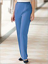 Women's Herringbone Pants - Patterned Pull-On Pants | Drapers