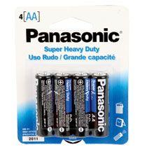 Bulk Panasonic Aa Batteries 4 Pack At Dollartree Com Panasonic Batteries Charger Accessories