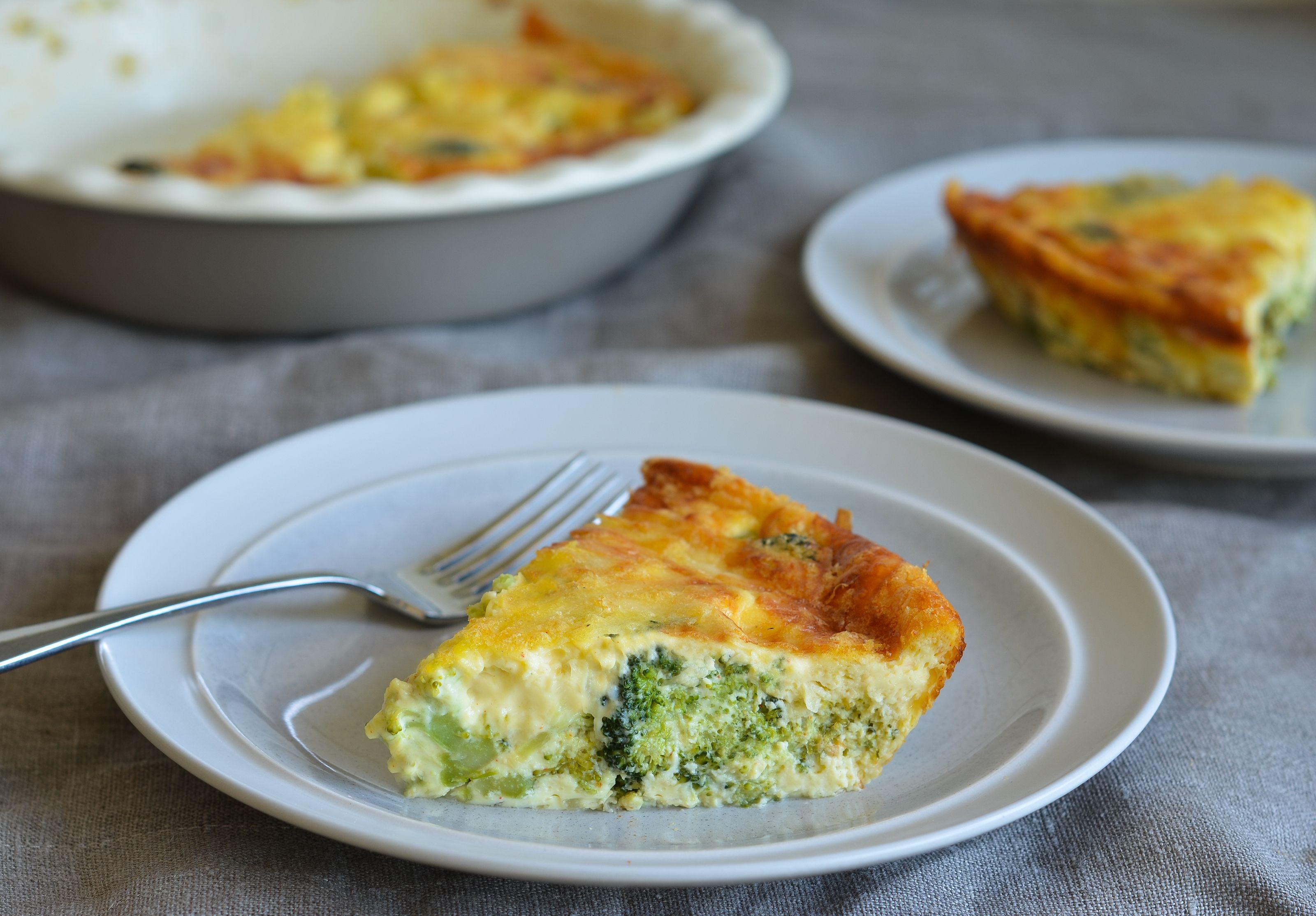 Crustless Broccoli Quiche Recipe Broccoli Quiche Crustless