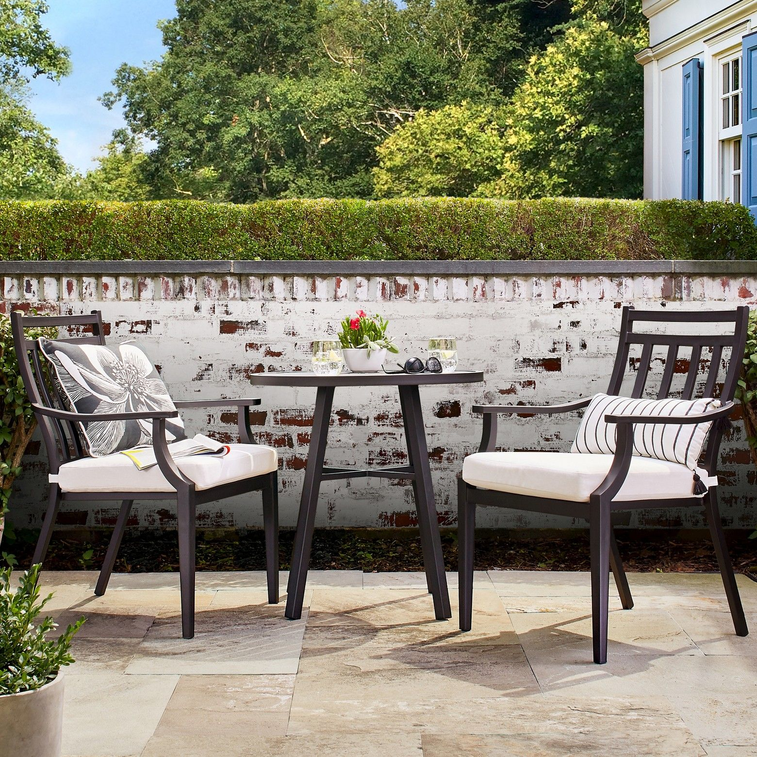 Bring The Indoors Outside With 3pc Balcony Patio Dining Set From Threshold Casual