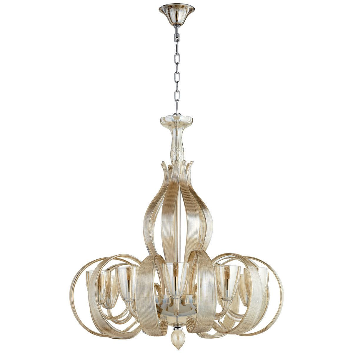 cyan design lucille 10 light chandelier - Cyan Canopy Interior