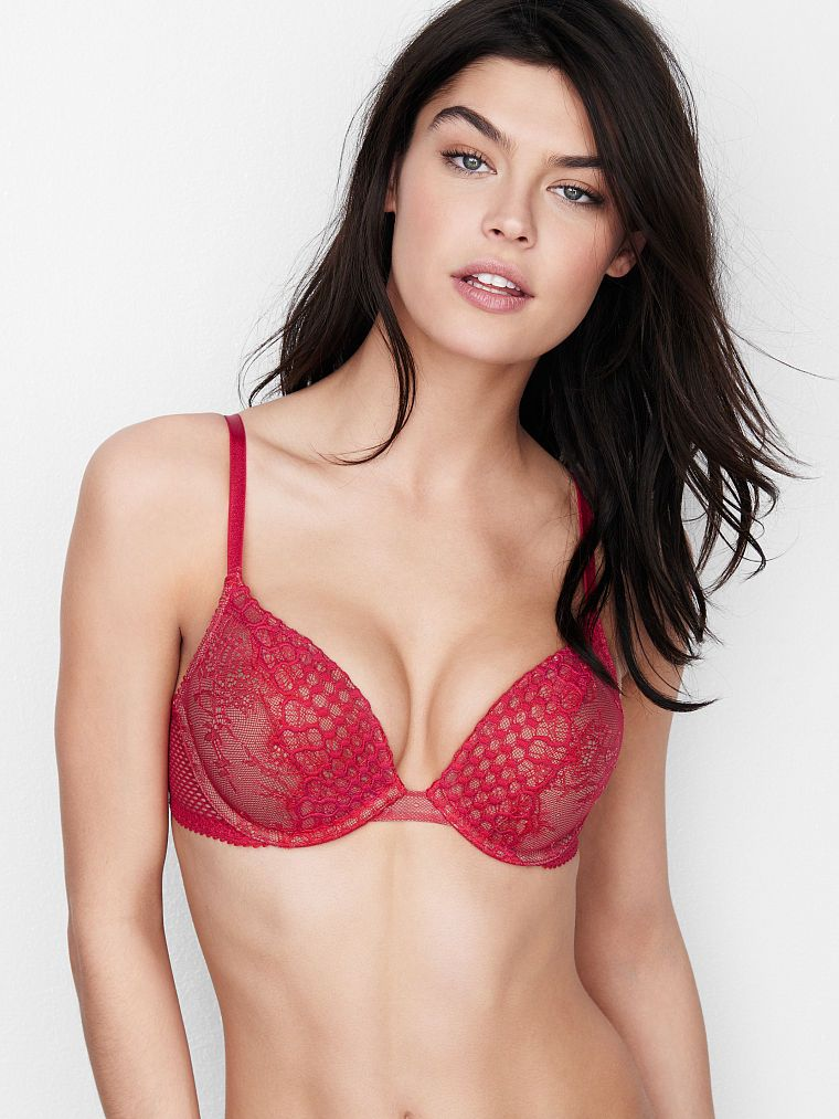 4d465ffcdd73d Limited Edition Fishnet   Lace Add-2-Cups Push-Up Bra - Bombshell - Victoria s  Secret
