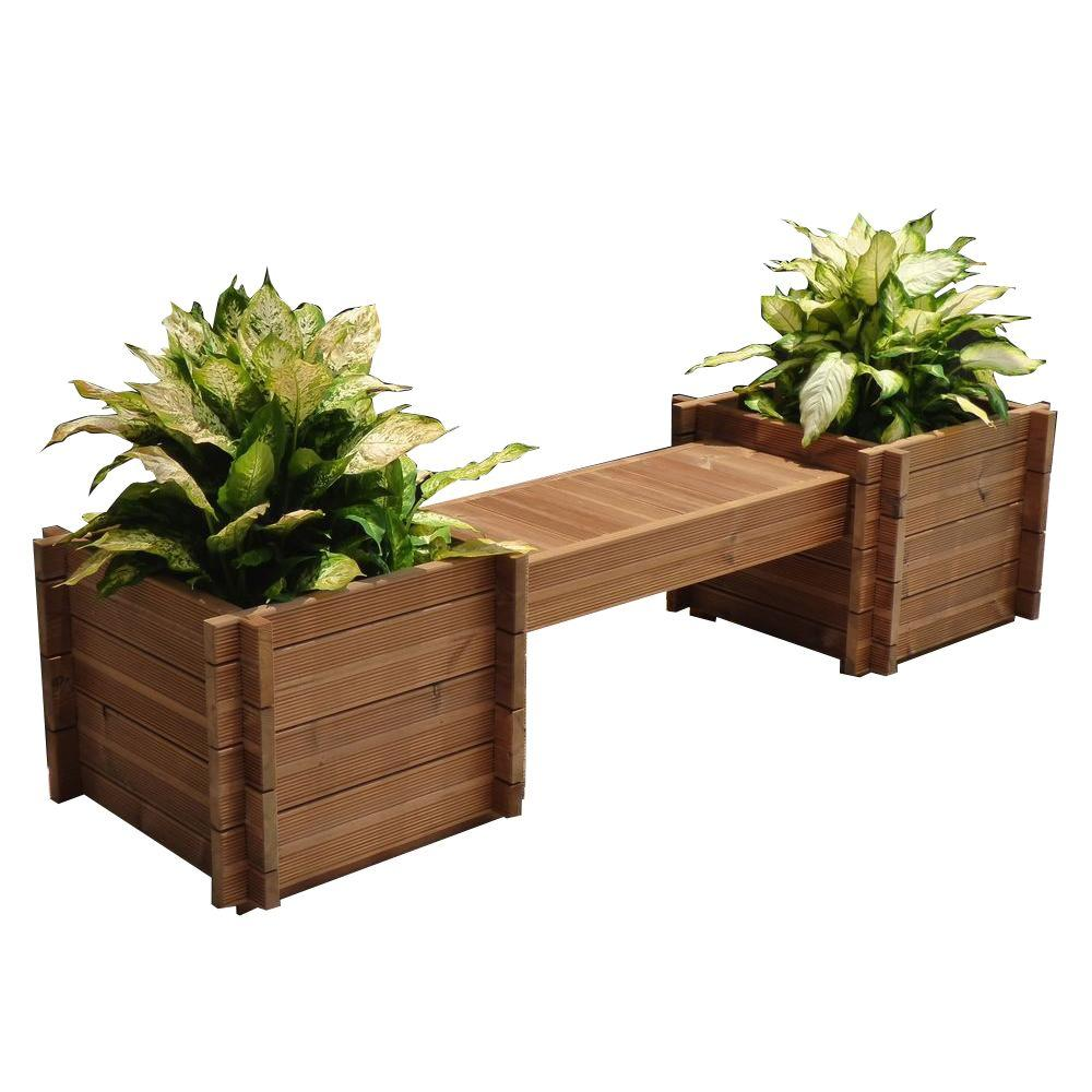 10 15 Indoor Plant Pots Planters The Home Depot Wood Planters Planter Bench Planters
