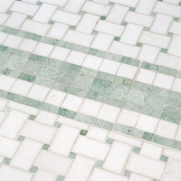 Black And White Basketweave Bathroom Tile Google Search