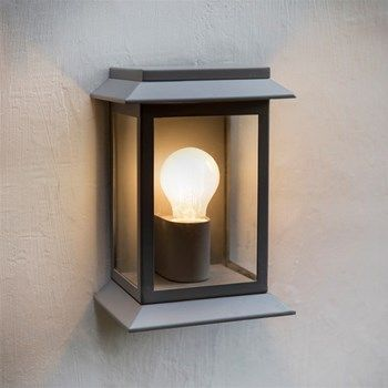 Traditional Outdoor Grosvenor Box Wall Light In Grey