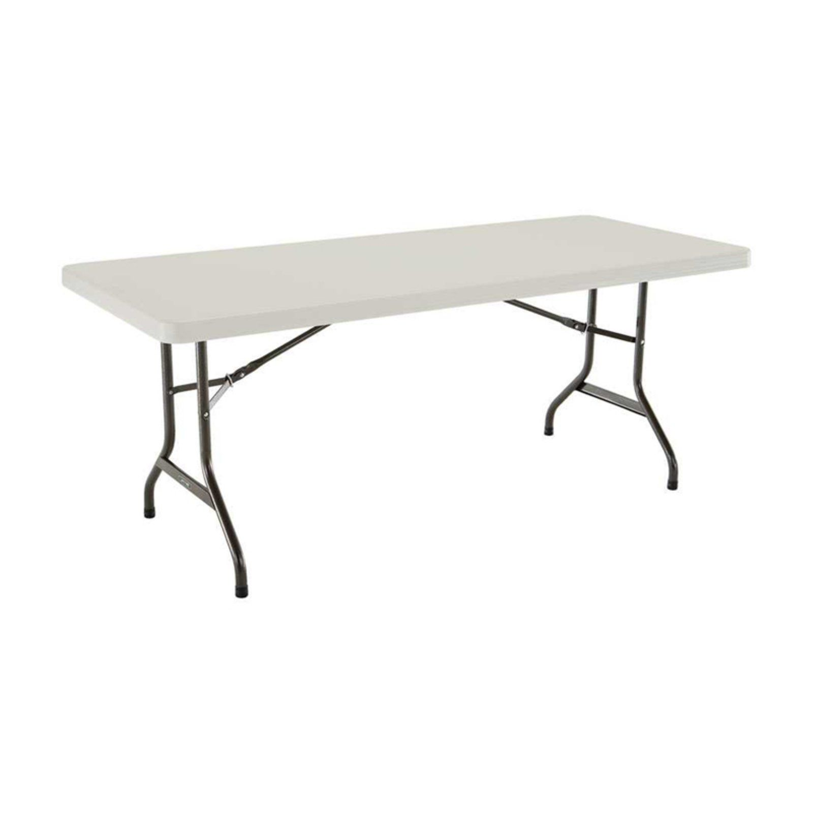 Lifetime 6 Ft Rectangle Commercial Folding Table White With
