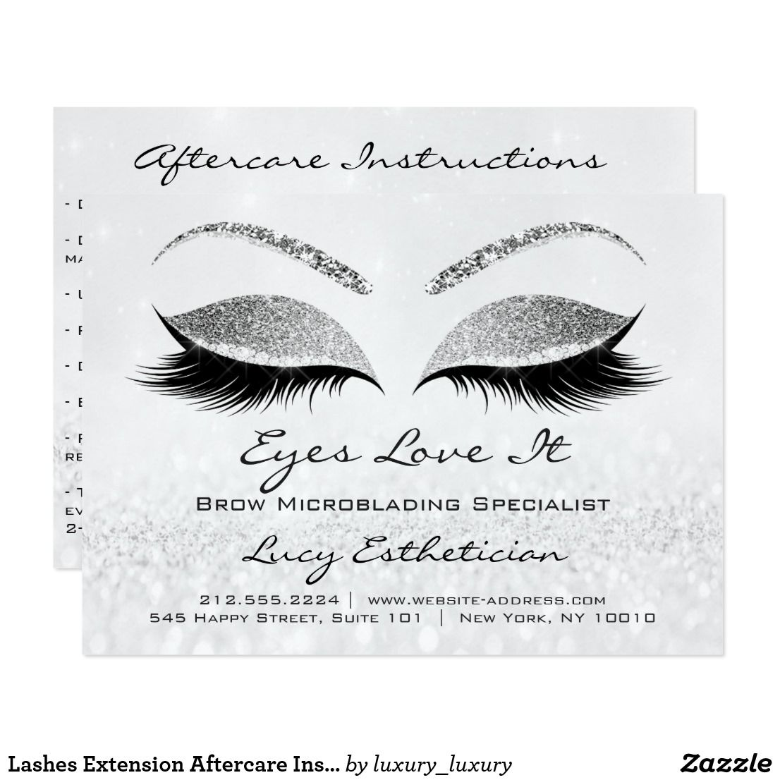 Lashes Extension Aftercare Instructions Silver Gra