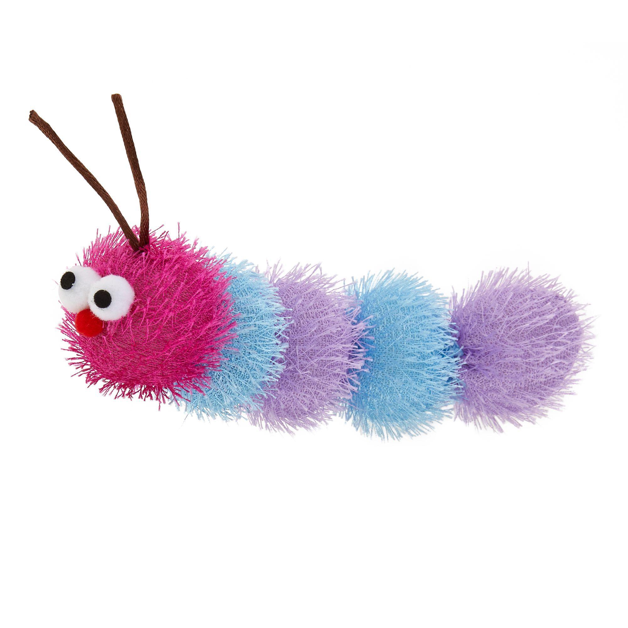 Top Paw Caterpillar Dog Toy Plush Squeaker Size Plush Dog