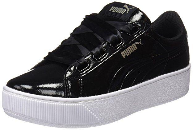 Puma Damen Vikky Platform Ribbon P Sneaker, Schwarz Black