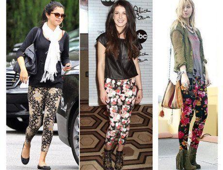 como usar calça legging estampada floral